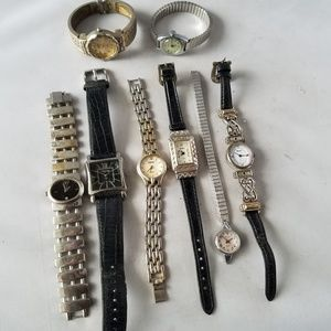Lot of 8 Women's Watches For Parts Not Working